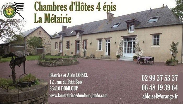 Chambres DHtes 4 Pis La Mtairie Carte De Visite