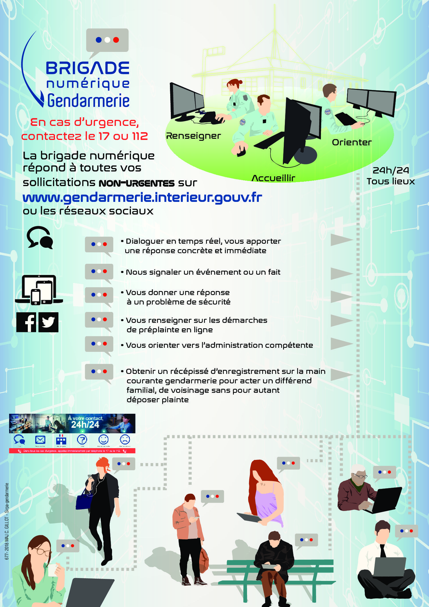 Infographie brigade numérique